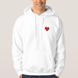 Pixel Video Game Heart Hoodie