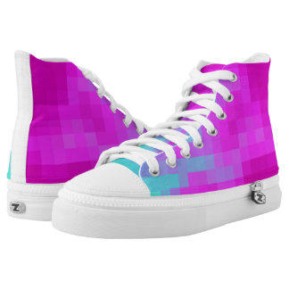 Pixel Wave high top shoes
