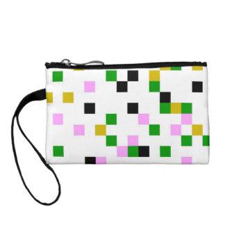 pixel white coin purse