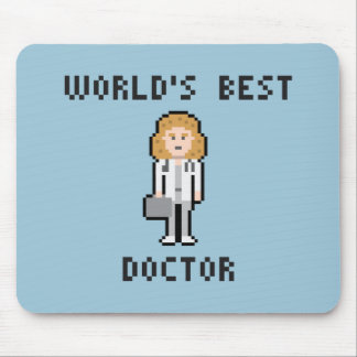 Pixel World's Best Doctor Female Version Mousepad