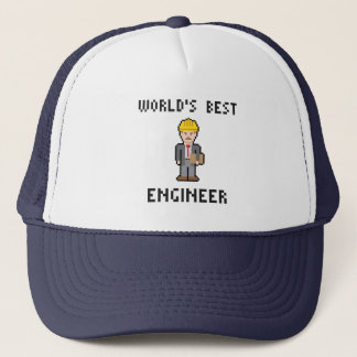 Pixel World's Best Engineer Hat