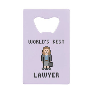 Pixel World's Best Female Lawyer Bottle Opener Credit Card Bottle Opener
