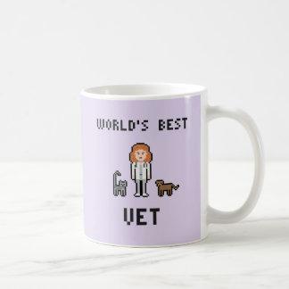 Pixel World's Best Female Vet Mug