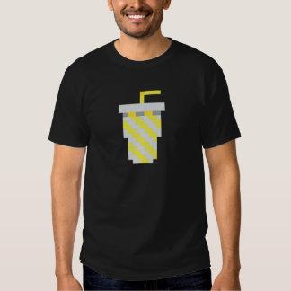 Pixel yellow soda cup shirt