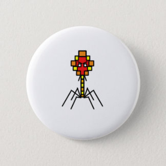 Pixelated Bacteriophage Button