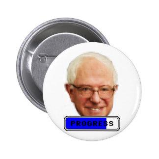 Pixelated Bernie Sanders - PROGRESS 2 Inch Round Button