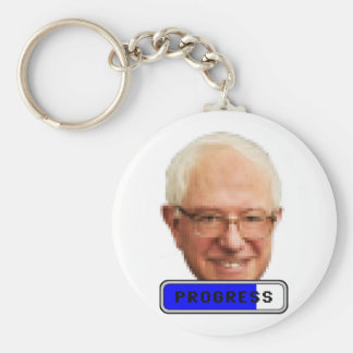 Pixelated Bernie Sanders - PROGRESS Basic Round Button Keychain