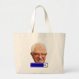 Pixelated Bernie Sanders - PROGRESS Large Tote Bag