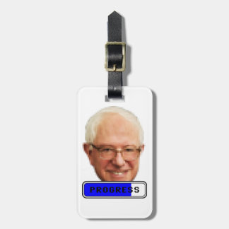 Pixelated Bernie Sanders - PROGRESS Luggage Tag