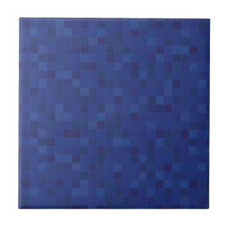 Pixelated blue mosaic design home ceramic tile