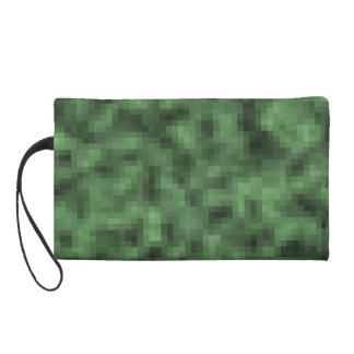 Pixelated Camo Wristlet Clutch