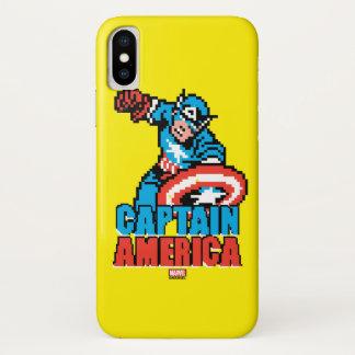 Pixelated Captain America iPhone X Case
