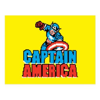 Pixelated Captain America Postcard
