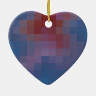 Pixelated Ceramic Heart Ornament