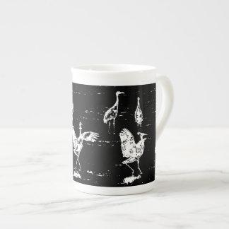 Pixelated Crane Bone China Mug