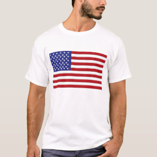 Pixelated_Design: American Flag T-Shirt