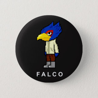 Pixelated Falco 2 Inch Round Button