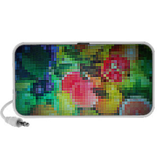 Pixelated Fruits on Doodle by OrigAudio™ iPod Speaker
