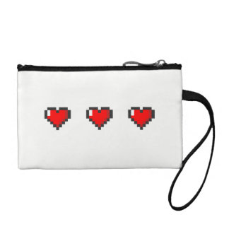Pixelated Heart Coin Purse