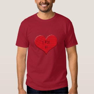 Pixelated Heart: I Pix U! Tee Shirt