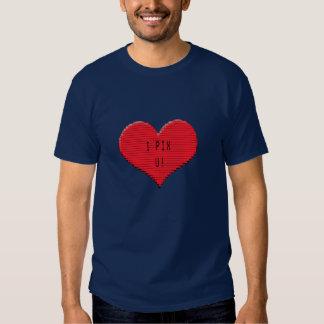 Pixelated Heart: I Pix U! Tee Shirts