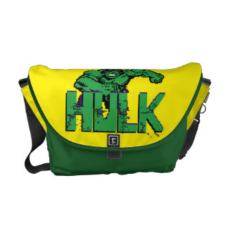 Pixelated Hulk Courier Bags
