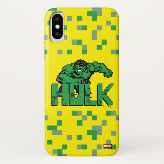 Pixelated Hulk iPhone X Case