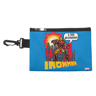 Pixelated Iron Man Accessory Bags
