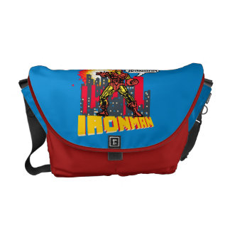Pixelated Iron Man Commuter Bag