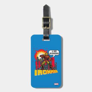 Pixelated Iron Man Luggage Tag