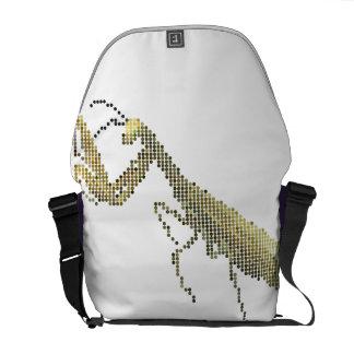 Pixelated Mantis Messenger Bag
