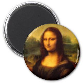 Pixelated Mona Lisa 2 Inch Round Magnet