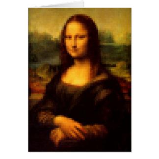 Pixelated Mona Lisa Card