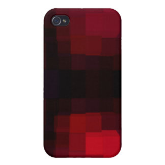 Pixelated rouge coques iPhone 4/4S