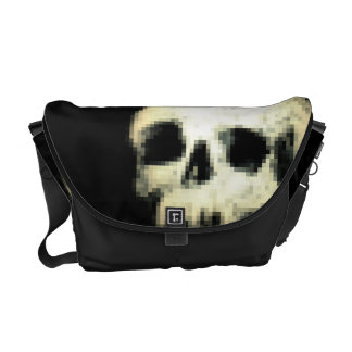Pixelated Skull Commuter Bags