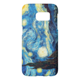 Pixelated Starry Night by Van Gogh Samsung Galaxy S7 Case