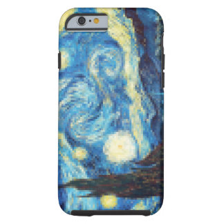 Pixelated Starry Night by Van Gogh Tough iPhone 6 Case