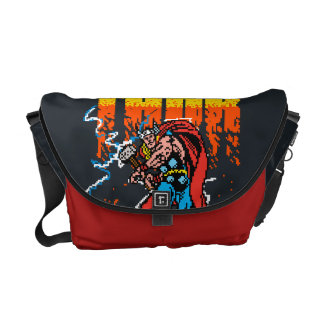 Pixelated Thor Commuter Bags