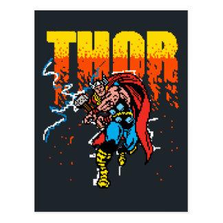 Pixelated Thor Postcard
