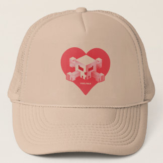 Pixelfield Game | Heart-Shaped Logo Hat