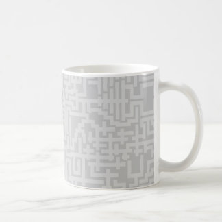 PixelMixel Maze Pattern Mug - Shades of Grey