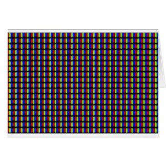 Pixels blancs carte de vœux
