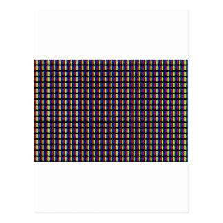 Pixels blancs carte postale
