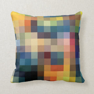 Pixels patchwork throw pillow