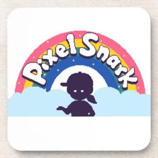 PixelSnark Logo Coaster