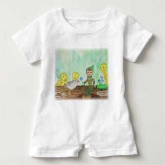 Pixie and Bird Baby Romper Cute Woodland Design