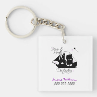 Pixie and Pirate Destinations Keychain