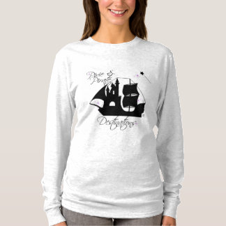 Pixie and Pirate Destinations Long Sleeve Shirt