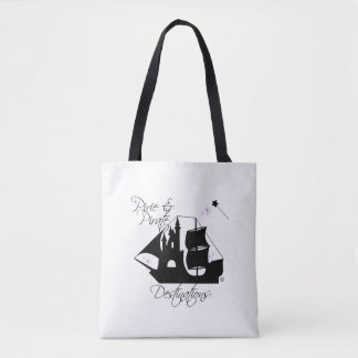 Pixie and Pirate Destinations Tote Bag