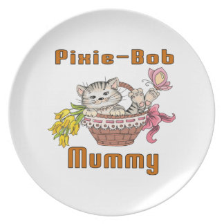 Pixie-Bob Cat Mom Dinner Plates